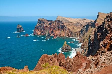 Sunny coast in the ocean, Island of Madeira