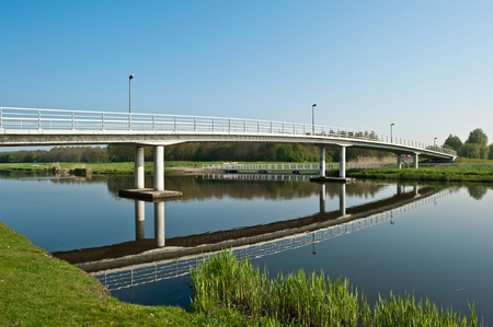 Bridge over a canal, Holland Stock Photo - 10951095