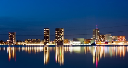 almere: Illuminated skyline, Almere, Holland