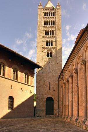 massa: Tower near ancient church, Massa Marittima, Italy