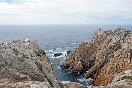 steep cliffs: Bay between steep cliffs, Brittany, France