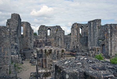 Ruins of Land Abbey, Brittany, France