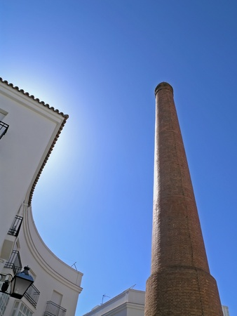 tallboy: Chimney as industrial heritage, Andalusia, Spain