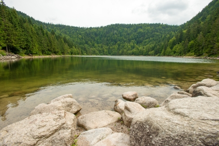 Lake in the lower mountains of Vosges photo