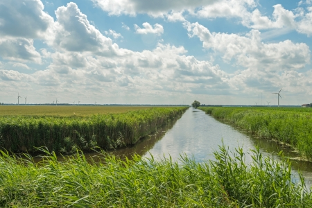 Canal through a rural landscape photo