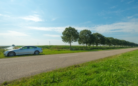 Car parked in the countryside