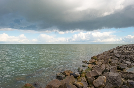 markermeer: Deteriorating weather over a lake