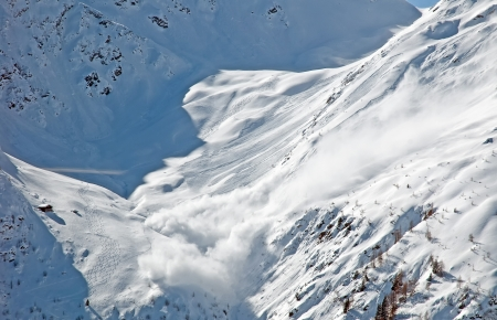 Avalanche in the moutains photo