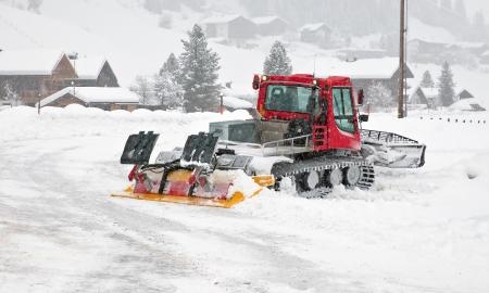 Snowplow at work in winter Stock Photo - 16407735