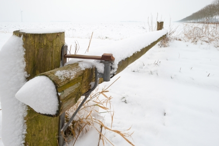 Closed walking path in winter Stock Photo - 17331482