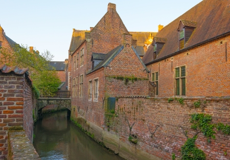 leuven: River through the Grand Beguinage of Leuven