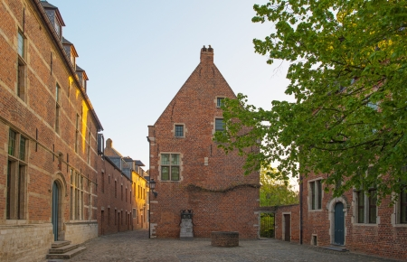 leuven: Square of the Grand Beguinage of Leuven Stock Photo