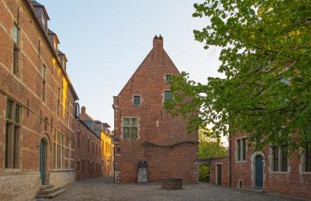 leuven: Square of the Grand Beguinage of Leuven Stock Photo