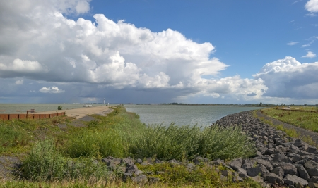 dikes: Dikes protecting the coast of Holland