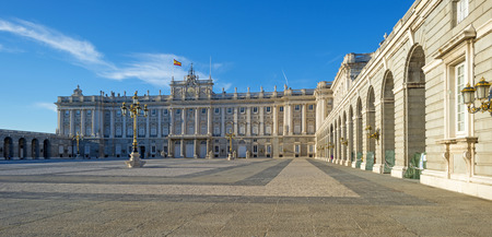 Square of the Royal Palace in Madrid