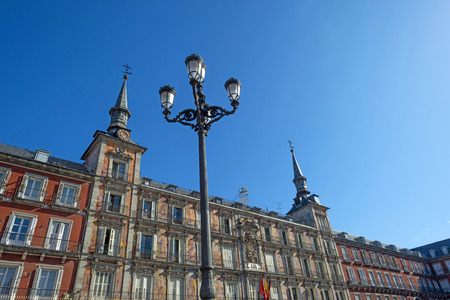 Plaza Mayor of Madrid in Spain under a clear sky