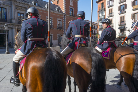 Royal guards on horseback in Madrid