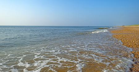 North Sea along a sunny beach in summer photo