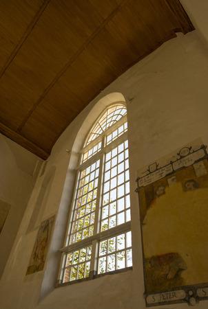 leeuwarden: Mural in the Jacobin church in Leeuwarden Stock Photo
