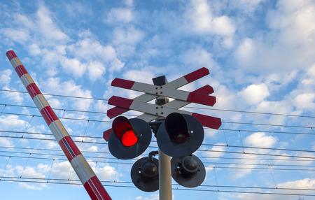 closing: Closing barrier of a rail crossing