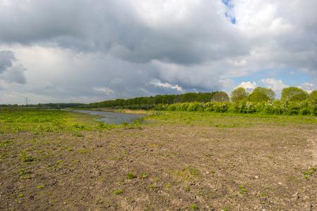 gloriole: La orilla de un lago en primavera soleado Foto de archivo