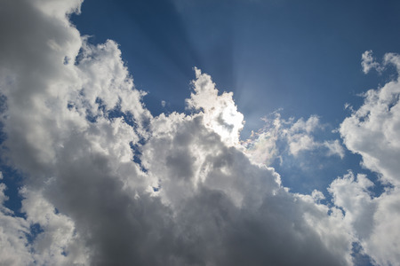 deteriorating: Cloudscape forecasting deteriorating weather in spring Stock Photo
