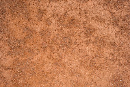 Surface covered with terracotta clay