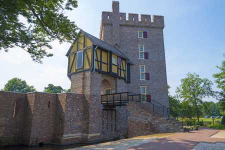 restored: Restored tower of an ancient stronghold