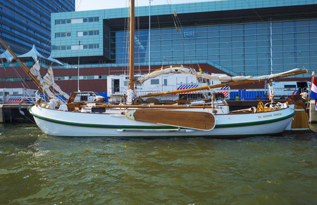 royal family: Green dragon of the dutch royal family in the port of Amsterdam Editorial