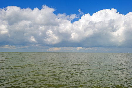 markermeer: Deteriorating weather in a blue sky in summer