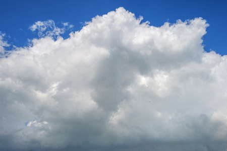 deteriorating: Deteriorating weather in a blue sky in summer