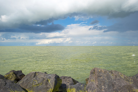 markermeer: Deteriorating weather above a lake in summer