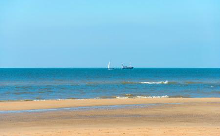 trawler: Fishing trawler at sea in autumn