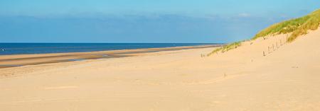 Sunlight on a beach along the North Sea Stock Photo