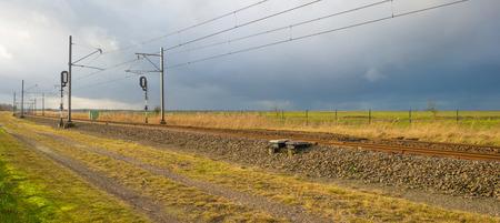 deteriorating: Railroad deteriorating in sunny weather
