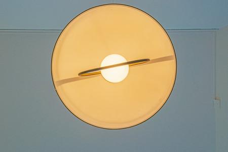 soften: A lamp illuminates the room Stock Photo