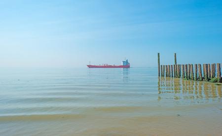 Breakwater to sea in summer