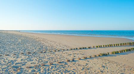 breakwater: Breakwater to sea in summer