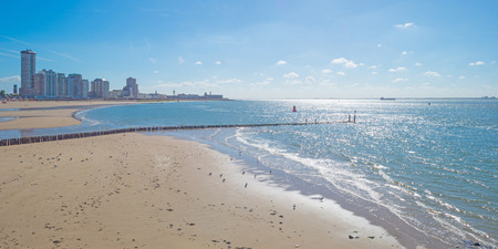 flushing: City along a sea in summer Stock Photo