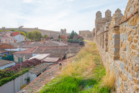 Medieval wall around the city of Avila