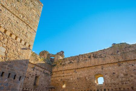 Detail of a castle in sunlight