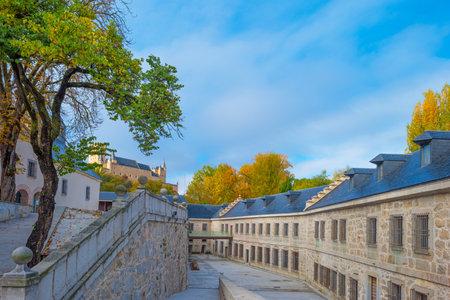 historic: Historic building in Segovia Editorial