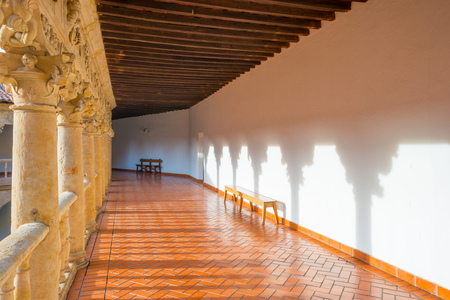 convento: Detail of a medieval cloister in Salamanca