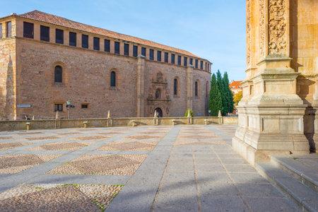 salamanca: Detail of a medieval cloister in Salamanca
