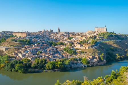 River meandering through a ravine in Toledo