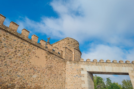 toledo: Medieval wall of the city of Toledo Editorial