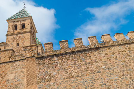 mancha: Medieval wall of the city of Toledo Editorial