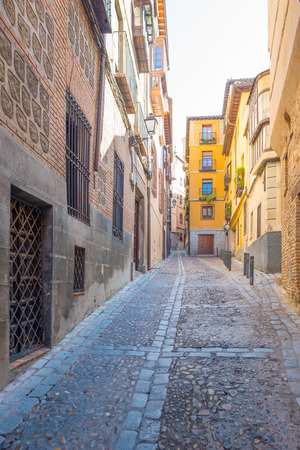 toledo: Alley in the medieval city of Toledo Editorial