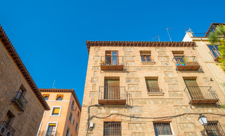 mancha: House in the city of Toledo Editorial