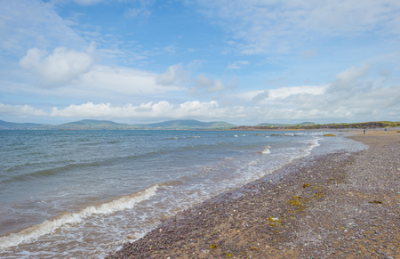 Panorama of an irish coast and beach along the atlantic ocean in summer Stock Photo